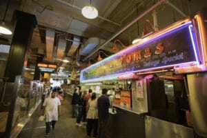 Free date idea adventuring throughout the grand central market.   The Dating Diva