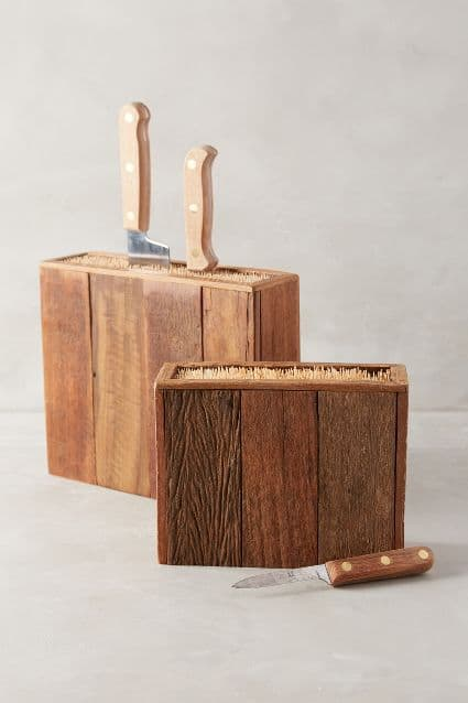 A handmade, wooden knife block for the man who has everything | The Dating Divas
