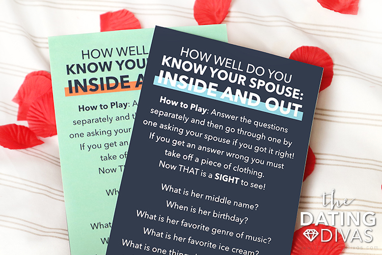 """Free """"How Well Do You Know Your Spouse"""" 5 senses game 