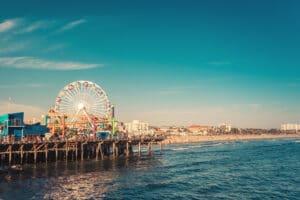 Santa Monica Ferris Wheel date idea in Los Angeles.   The Dating Diva