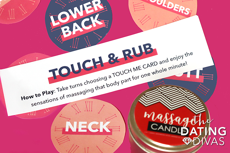 Massage game to play with your spouse with free printables | The Dating Divas