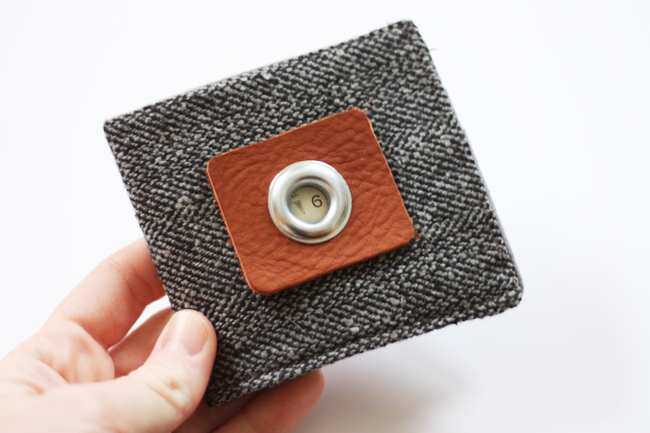 A homemade fabric wallet gift | The Dating Divas