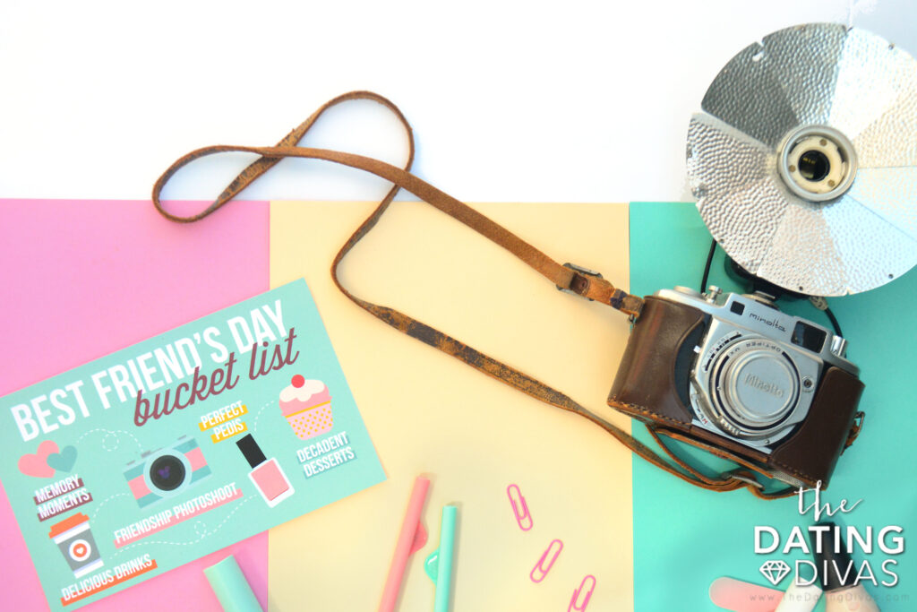 Prepare for a wonderful Best Friends Day photoshoot and drink run. | The Dating Divas