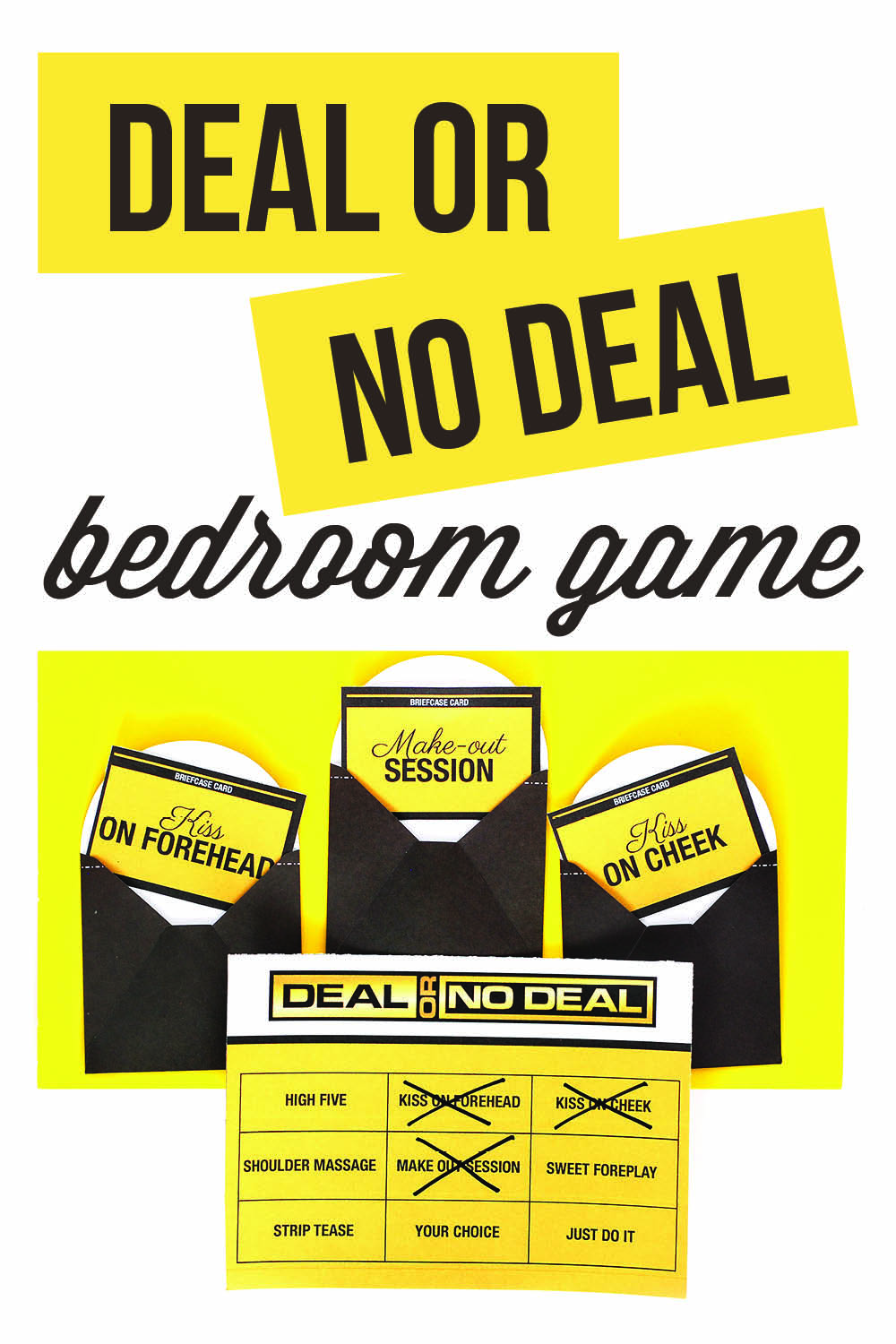 Sexy Deal or No Deal for the Bedroom | The Dating Divas