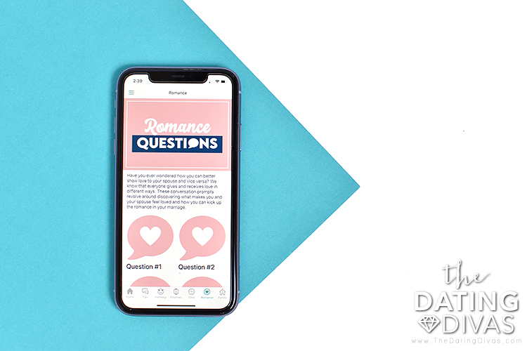 Phone screen containing the romance topic | The Dating Divas