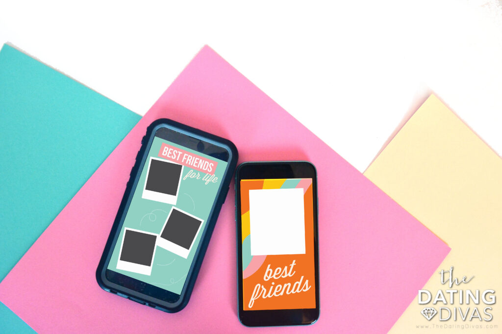 Instagram templates that will help you spotlight your best friend on National Best Friend Day. | The Dating Divas