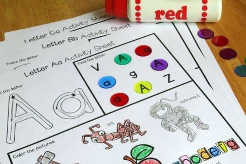 Alphabet toddler worksheets | The Dating Divas