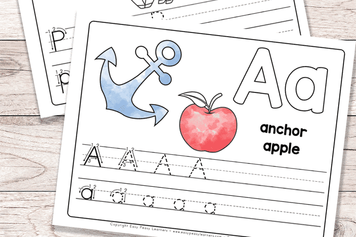 Alphabet book and practice pages for toddlers | The Dating Divas