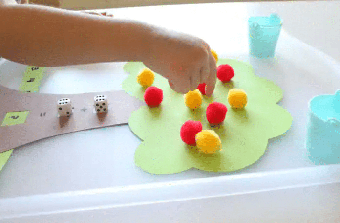 Apple tree counting toddler activities | The Dating Divas