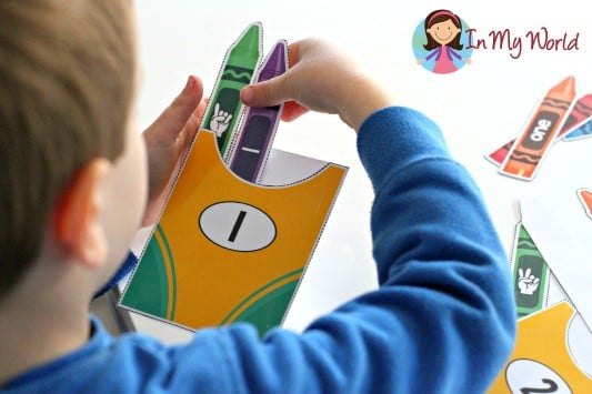 Crayon preschool worksheets to help with counting | The Dating Divas