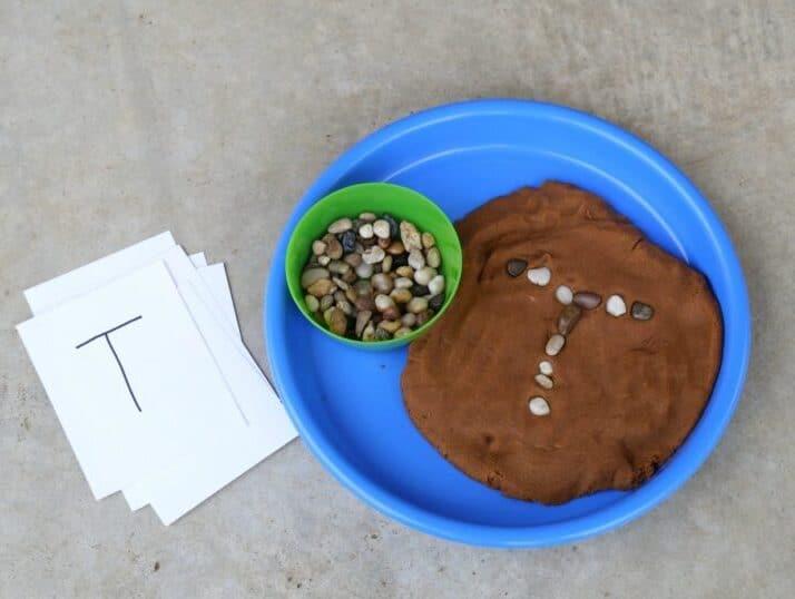 Letter preschool activities using PlayDough | The Dating Divas