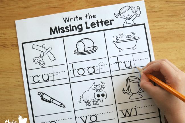 Missing letter toddler worksheets | The Dating Divas