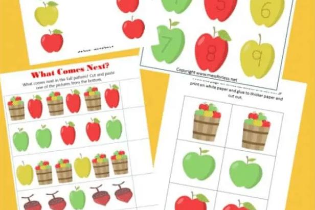 Autumn-themed preschool worksheets | The Dating Divas