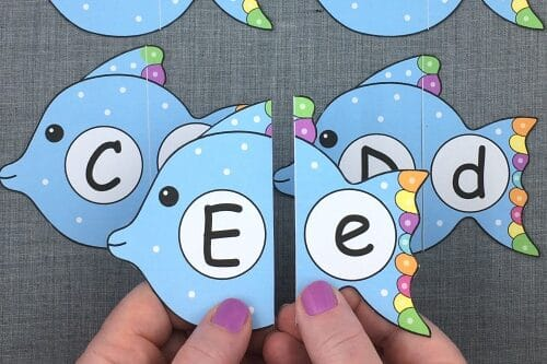 Fish counting printable preschool worksheets | The Dating Divas