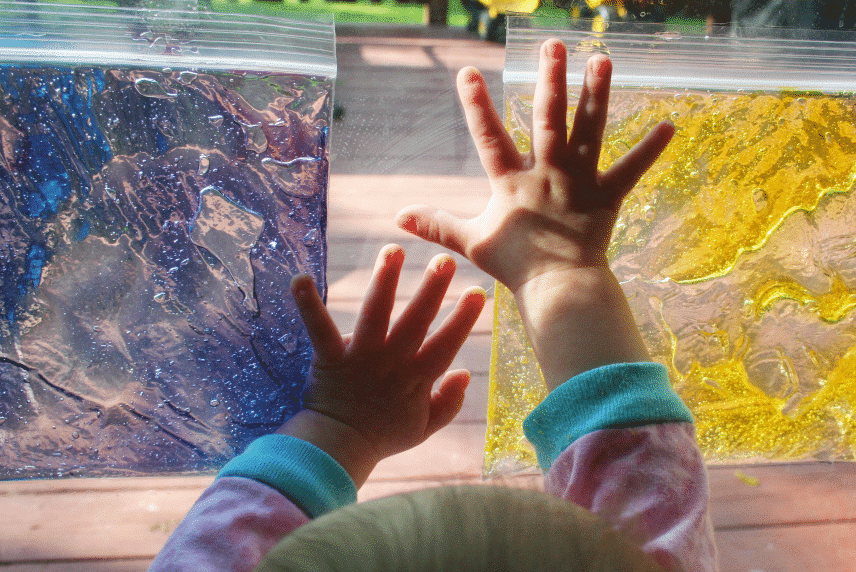 Hair gel toddler activities that are perfect for sensory play | The Dating Divas