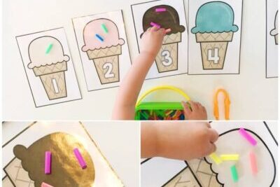 Ice cream-themed printable preschool worksheets | The Dating Divas