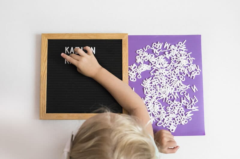 Preschool activities and ideas using a letter board | The Dating Divas