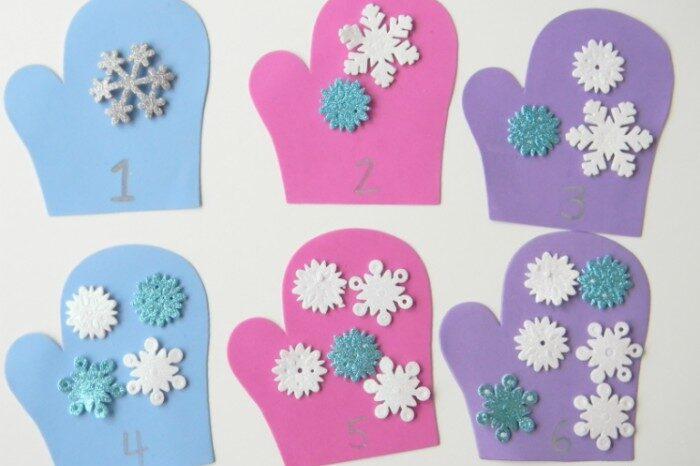 Mitten math preschool activities for kids | The Dating Divas