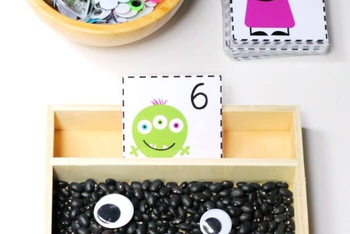 Preschool worksheets and cards to help do monster counting activities | The Dating Divas