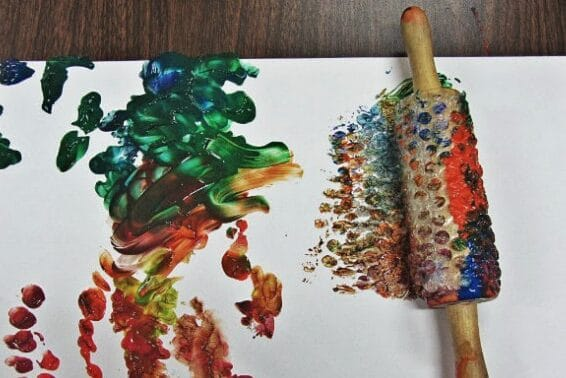 Rolling pin toddler activities and painting ideas | The Dating Divas