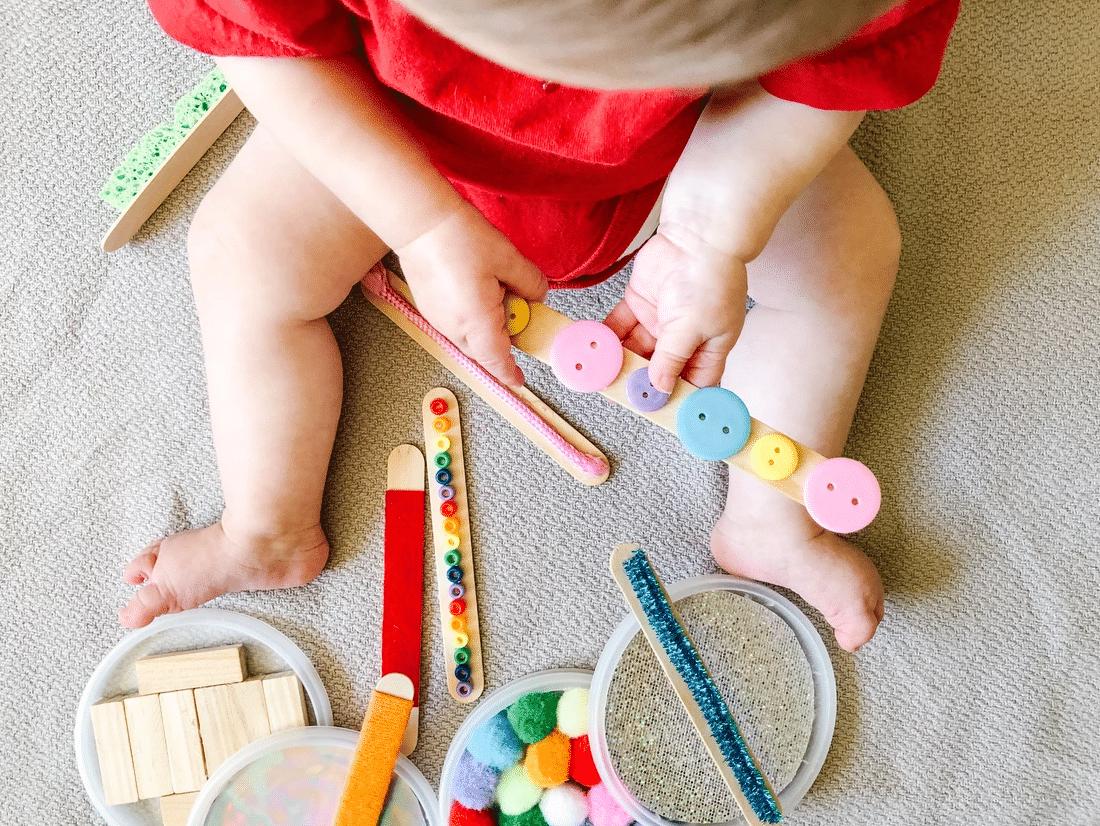DIY toddler activities using sensory sticks | The Dating Divas