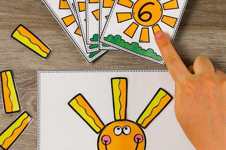 Sunshine counting printable preschool worksheets | The Dating Divas