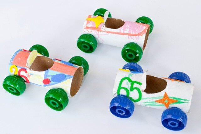 Toilet paper roll racecar craft | The Dating Divas