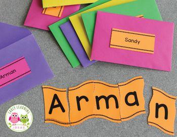 Wavy name puzzle preschool activities | The Dating Divas