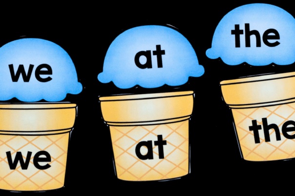 Ice cream cone sight words and other preschool activities | The Dating Divas