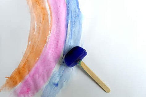 Ice paint toddler activities | The Dating Divas