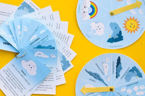 Weather-themed printable worksheets for kids |The Dating Divas