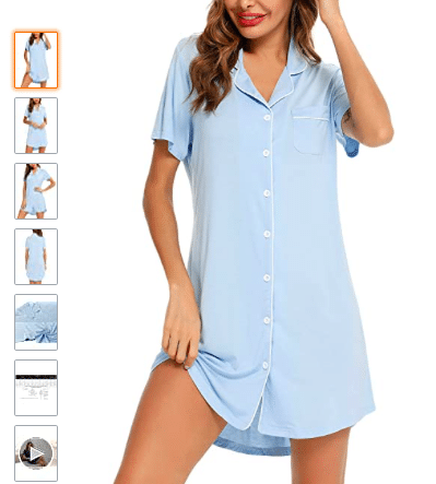 Classic, collared button-down nightgown sleepshirt | The Dating Divas