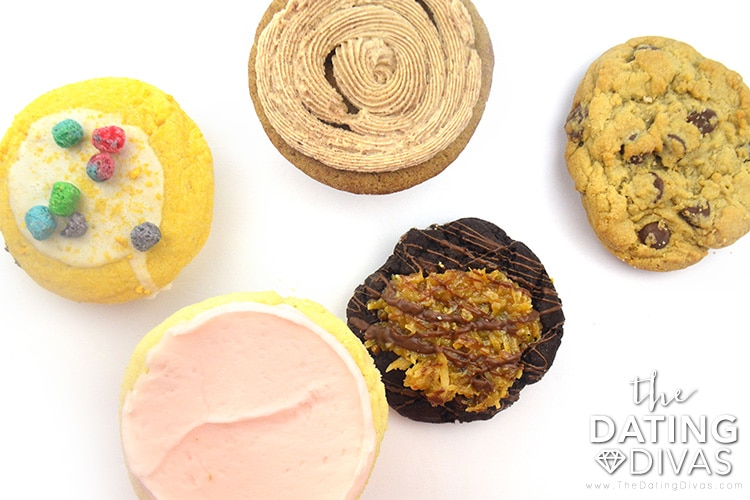 Order in some delicious cookies from Crumble Cookies if you don't have time to bake them.   The Dating Divas