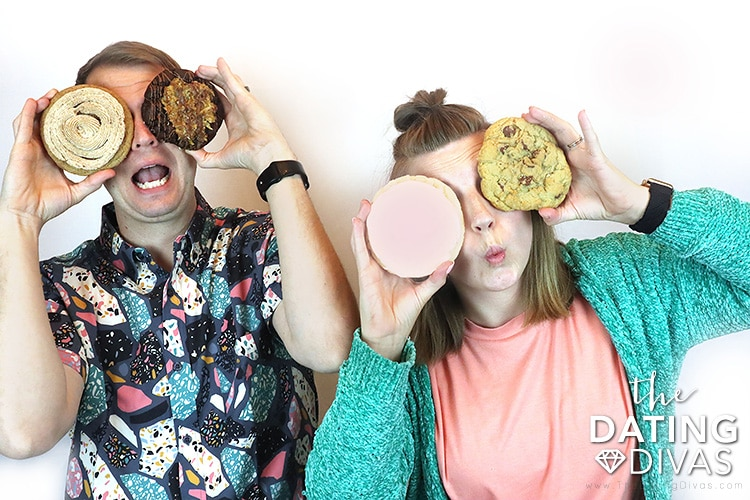 A cookie taste-test date night for couples.   The Dating Divas