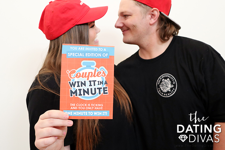 Invitation for a Couples Minute to Win It Game Night | The Dating Divas