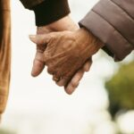 Old couple with Alzheimer's holding hands   The Dating Divas