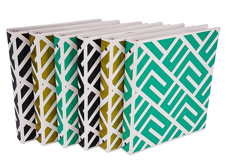 A pack of binders helps keep things organized for back to school.   The Dating Divas