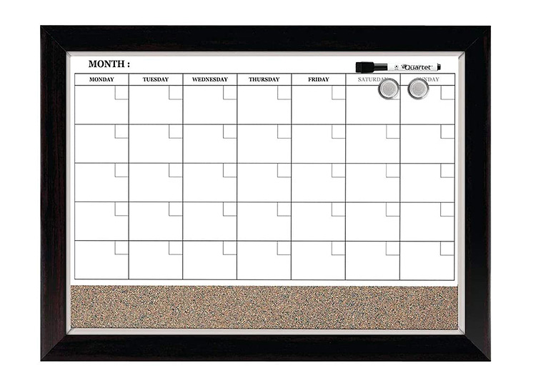 A changeable, magnetic calendar is great for back-to-school.   The Dating Divas