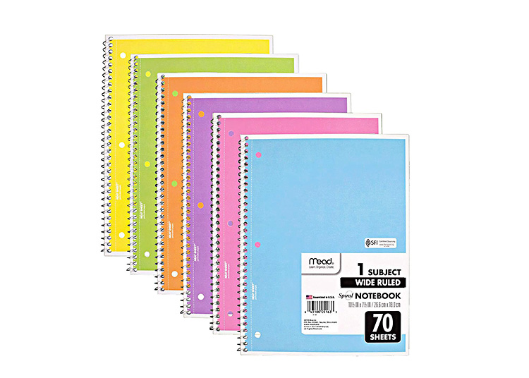 Cute school supplies can be assured with these pastel notebooks.   The Dating Divas