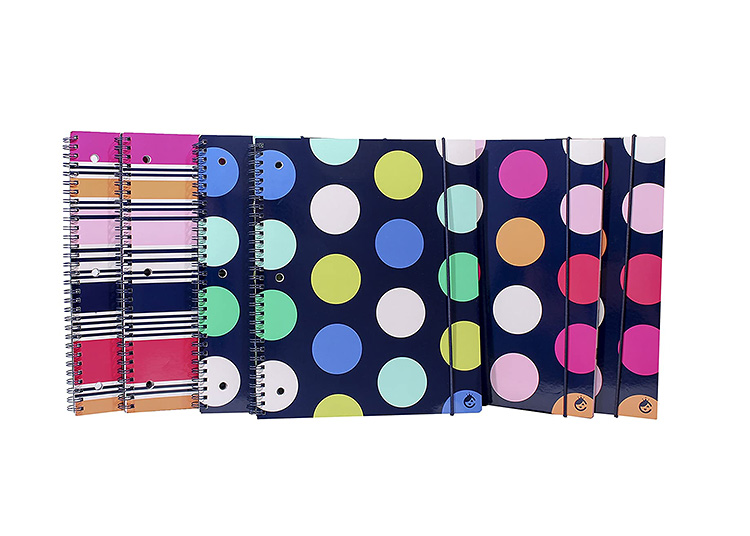 Patterned notebooks for back to school supplies.   The Dating Divas