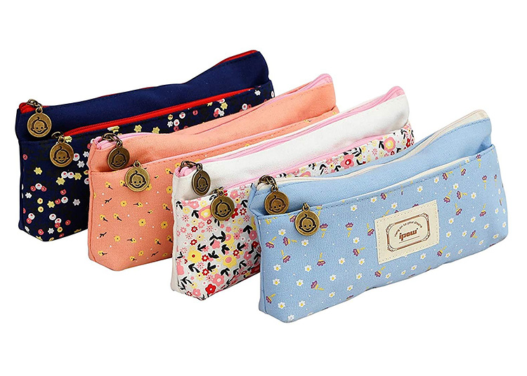 Pencil pouches are synonymous with back to school supplies. These floral options are cute and practical.   The Dating Divas