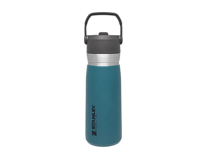 Stanley brand stainless steel bottles have a handle for easy carrying.   The Dating Divas