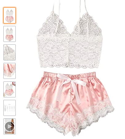 Super Sexy Pajama Set with Lace Bralette | The Dating Divas
