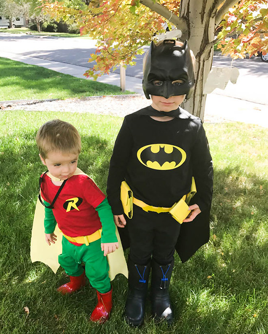 Family costume ideas don't get more classic than superheroes! | The Dating Divas