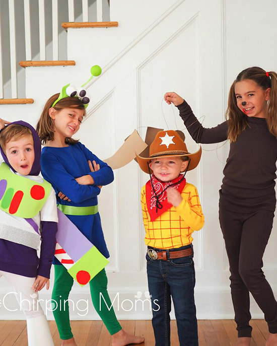 Dress up your family costume ideas with Pixar inspiration and Toy Story costumes. | The Dating Divas