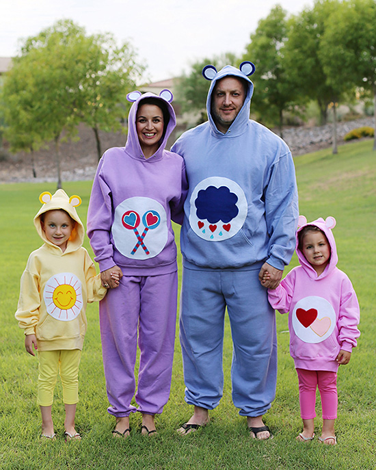 Cuddly, cute, Care Bear costumes for a family halloween costume. | The Dating Divas