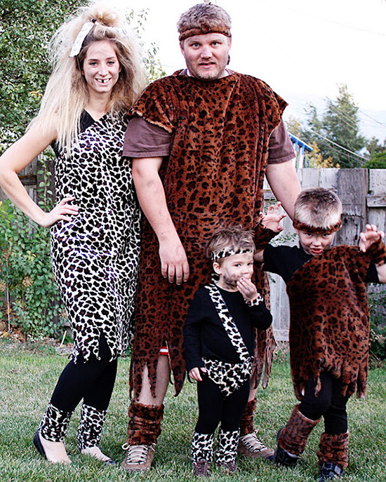 A family costume for the cavemen in your life. | The Dating Divas