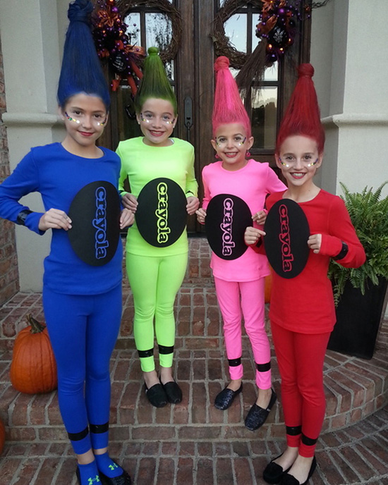 There's a color for everyone for this crayon DIY costume ideas. | The Dating Divas