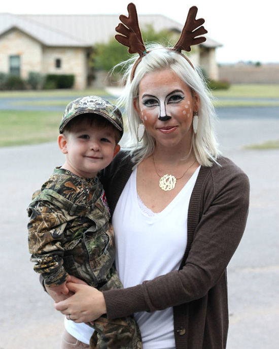 Make your little hunter smile with family costume ideas that incorporate his or her interests. | The Dating Divas