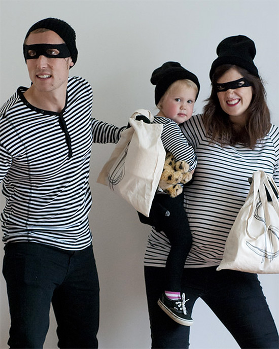 Steal some hearts this Halloween with robber family costumes. | The Dating Divas